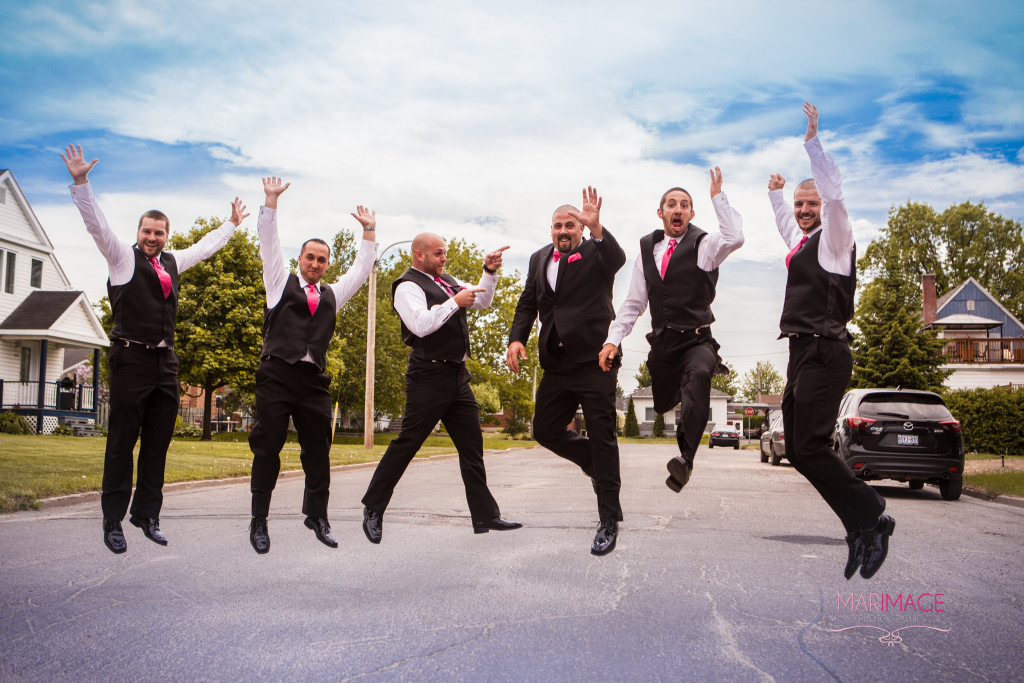 Ontario wedding photography jump