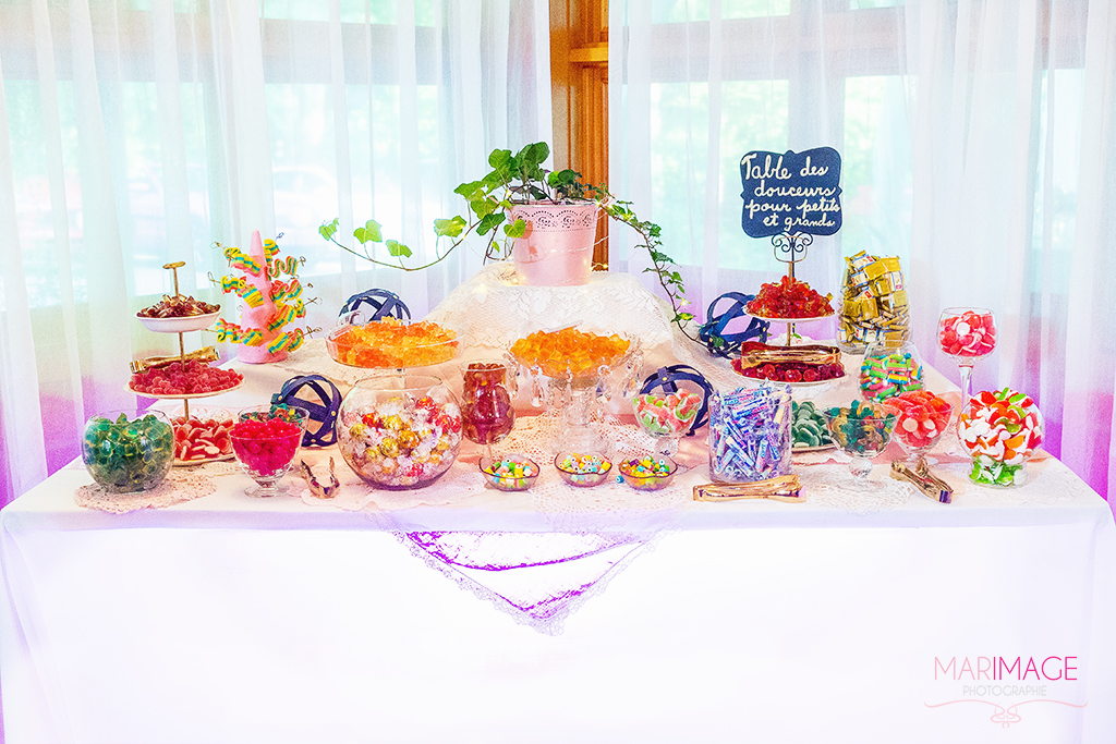 Photographe sweet table mariage